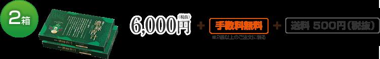 2箱 6,000円(税抜)+手数料無料+送料 500円(税抜)